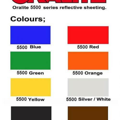 Oralite 5500 Reflective Vinyl Sheets