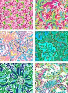 Lilly Pulitzer Inspired Vinyl - Pattern HTV or Pattern Adhesive Vinyl