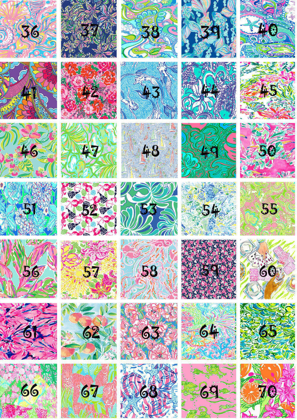 Lilly Pulitzer Vinyl. Pattern HTV or adhesive vinyl inspired by Lilly Pulitzer.