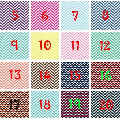 Chevron Faux Leather Sheets Patterns 1-24