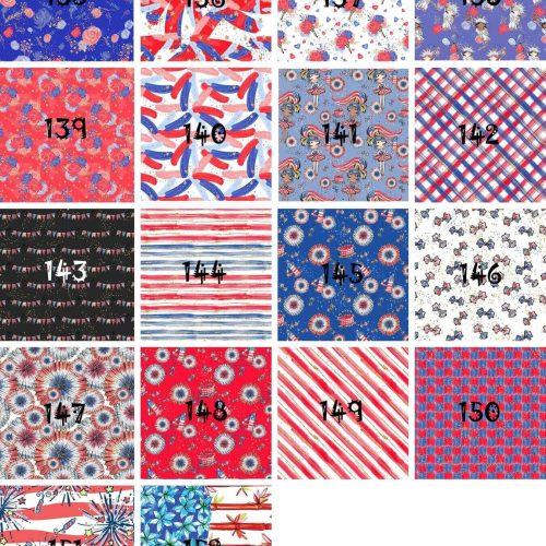 USA Patriotic Faux Leather Sheets 136-156